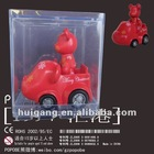promotiona gift item vinyl figurine bear toy mini toy car
