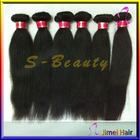 top quality unprocessed virgin brazilian hair weft,nature color straight human hair for braiding