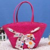 hot sales bowknot wheat straw handbag
