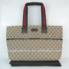 2012 fashionable grid pattern tote bags wholesale