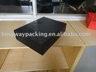 matt black foldable boxes