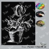 flower style DIY paper craft engraving scratch art