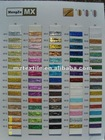 mx metallic yarn color card