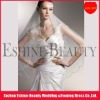 Charming tulle off white short ribbon edge wedding veil 2012