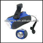 3pcs super bright hand crank dynamo mini led flashlamp