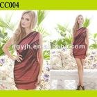 CC004 Mesh One Shoulder Fashion Casual Dress For Women