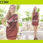 CC004 Mesh One Shoulder Fashion Casual Dress For Women