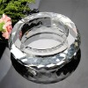 fashion round crystal ashtray with customized design
