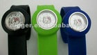 2011 automatic watch/phone watch/ silicone slap watch