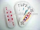 die-cut playing card