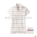 new fashion short sleeve button up girls ladies polo shirt