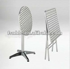 Aluminum frame steel table