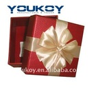 small gift packing paper box with silk ribbon(YK9902)