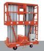 Double mast aerial platform elevated aluminum Work platform CE