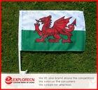 Wales dragon Auto flag/car window clip flag/ AD/promotion car flag