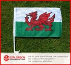 Wales dragon Auto flag/car window clip flag/ AD/promotion car flag
