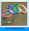mulitcolor Silicone Bracelet,Colors changing silicone wristband