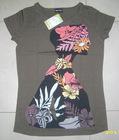 167. Dyed ladies printed T-shirt stock