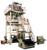 TRI-LAYER CD-EXTRUDE UP-TRACTION ROTATION FILM PUFFING ASSEMBLY LINE