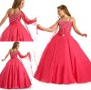 FG-049 Fancy asymmetrical neckline full tulle flowing skirt red plus size flower girl dress for special accasion