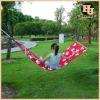 Outdoor hanging swinging canvas patio swing hammock