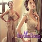 F2102**new 2012 popular V-Neck maxi dresses evening