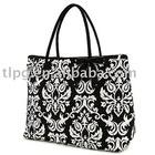 lady's bag,leather tote bag, damask fashion bag