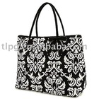 lady's bag,leather tote bag, damask fashion bag
