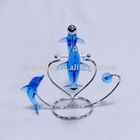 acrylic dolphin swing sculpture stress desk toys