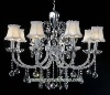 Beige Hanging Crystal Chandelier Light