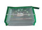 Messenger bag Plastic Bag for office stationery document bag pencil case green zipper lock top