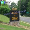 P20mm outdoor multi-lines LED Sign on roadside