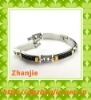 High quality health titanium black telephone wire bracelet