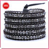 2013 lastest fashion wholesale european style leather wrap bracelets