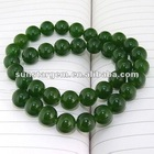 dark green round jade
