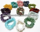 FREE SHIPPING !!! MULTI CR Gemstone Chip Bead Stretch BirthStone Bracelet