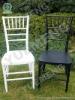 Resin Chivari Chair( Black/White)