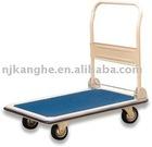 Flat-panel folding metal trolley