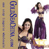 Sexy purple baby belly dance costume