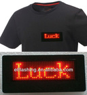 LED badge in t-shirt