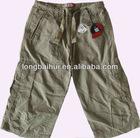 kids cute fashion 100% cotton summer cargo short stock
