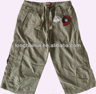 kids cute fashion 100% cotton summer cargo short stock