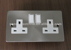 high quality double 13a wall switched socket