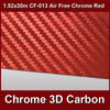 new 3d carbon car chrome film air bubble free 1.52mx30m roll CF-013