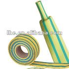 Yellow/Green Stripped flexible flame-retardant single wall tubing W-1-HL(2X,3X)