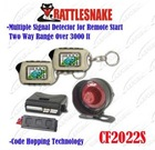 2-way car alarm system CF2022S 2 LCD remotes Two-way range over 3000ft Code Hopping technology& Engine starter