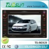 double din radio dvd car for Volkswagen Golf with Backlight Dimmer and DVD Menu Direct Touch Screen