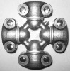 Universal joint with 4 wing bearings GUKO-4