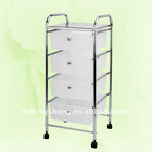 4 layers ss 201 white trolley with wheels