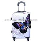 2012 fashion style butterfly print PC flight luggage